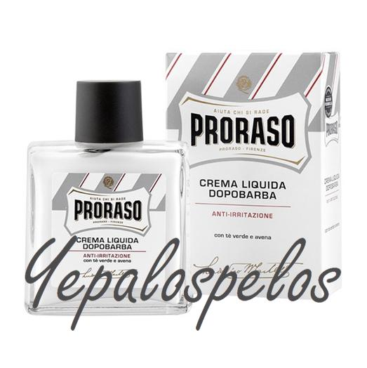 PRORASO WHITE AFTER-SHAVE C/TE VERDE/AVENA SIN ALCOHOL 100ml