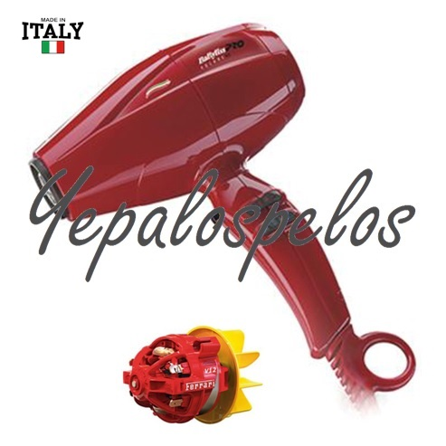 2200 W - BABYLISS PRO SECADOR COMPACT VOLARE ROJO IONIC